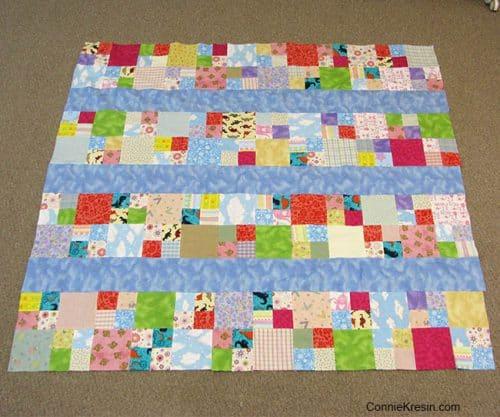 Flannel scrap crib or lap quilt
