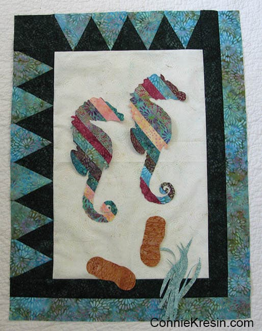 Coastal Mist Wall Hanging with applique