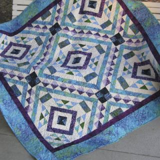 Affinity Quilt pattern in batiks - ConnieKresin.com