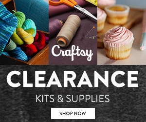 Craftsy Clearance Kits Supplies up to 60% off!