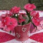 Dianthus Flowers Cherry Berry Batiks – Dad Update