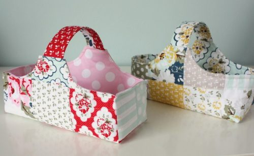 Diary of a Quilter fabric basket tutorial