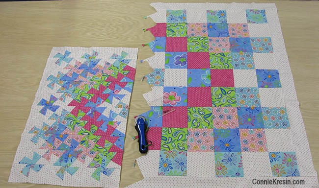 Twister Baby Quilt Tutorial comparison sizes
