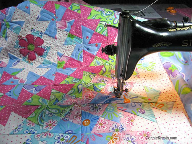 Twister Baby Quilt Tutorial quilting