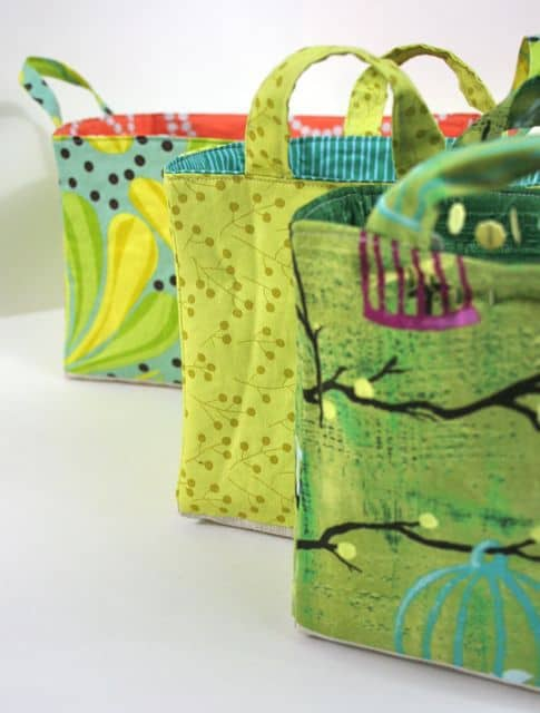 Whip-Stitch nested fabric baskets tutorial