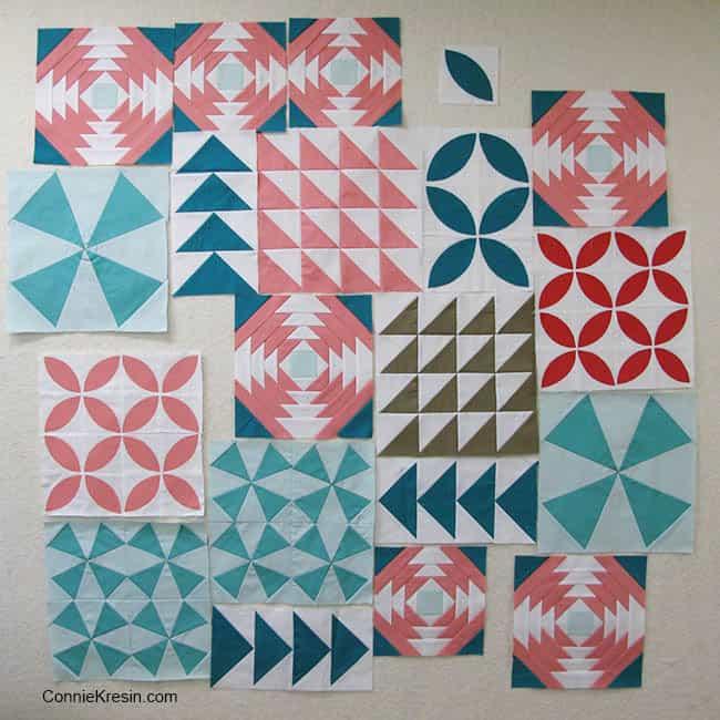 Bella Skillbuilder Quilt Half Square Triangle Block free pattern