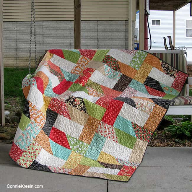 Dovetail Free Quilt pattern on swing