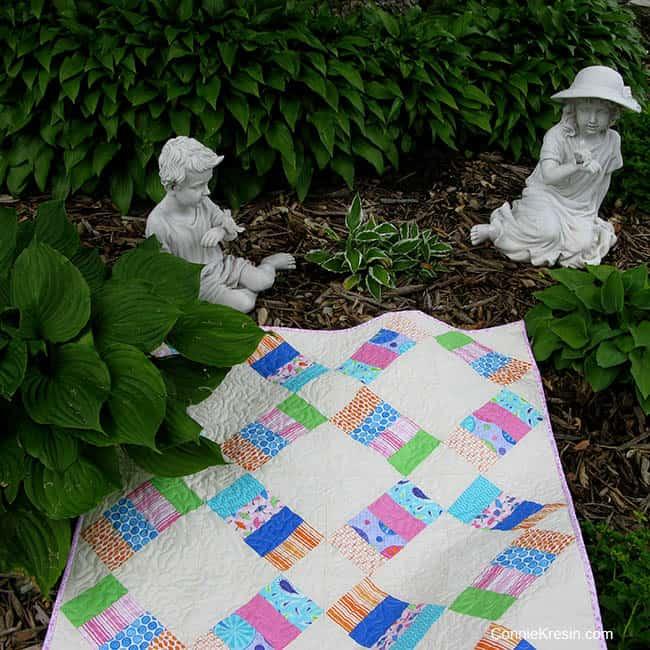 Jelly Roll Railway free pattern garden