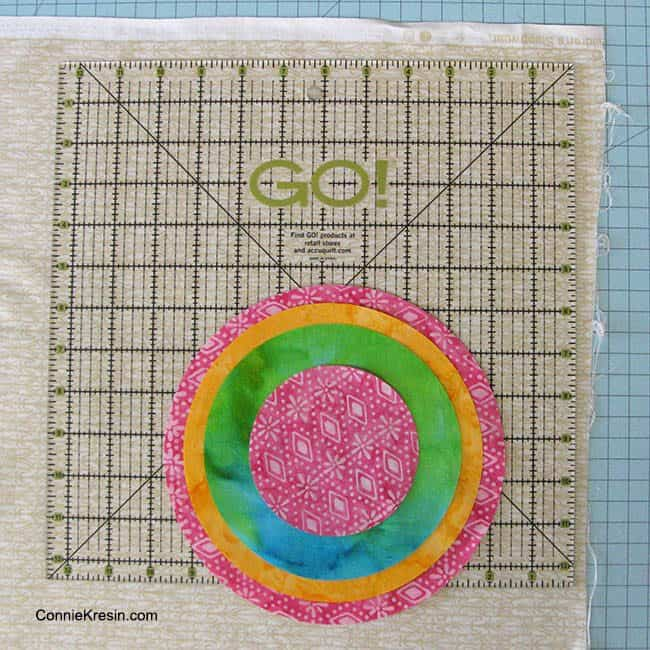 AccuQuilt GO ruler for background