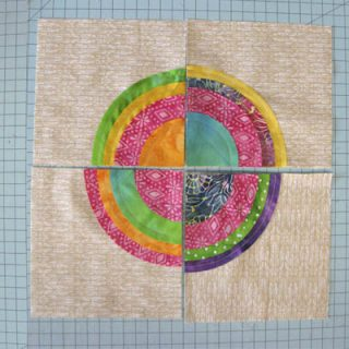 Bulls Eye quilt block tutorial
