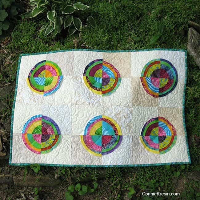 Bulls eye batik quilt