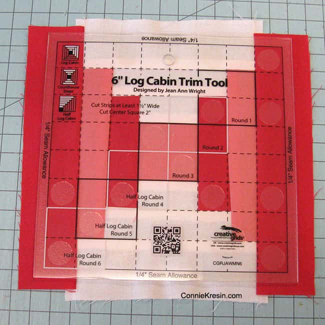 Creative Grids Log Cabin match center