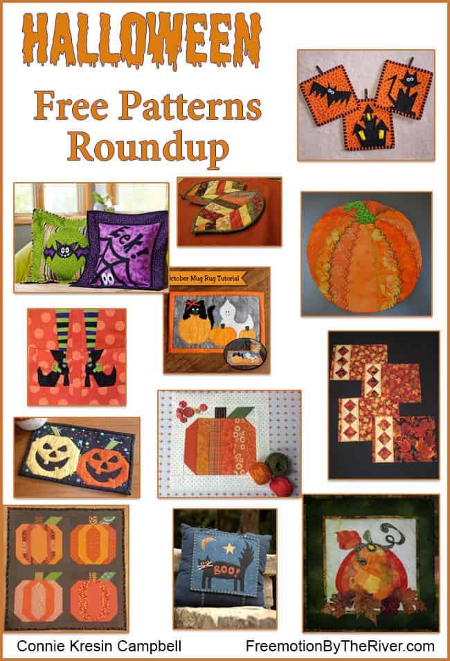 Roundup Halloween free quilt patterns
