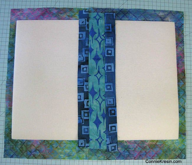 Batik QAYG placemats tutorial center strips