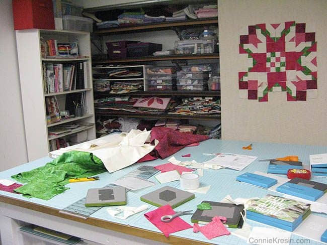 AccuQuilt Block on wall mess