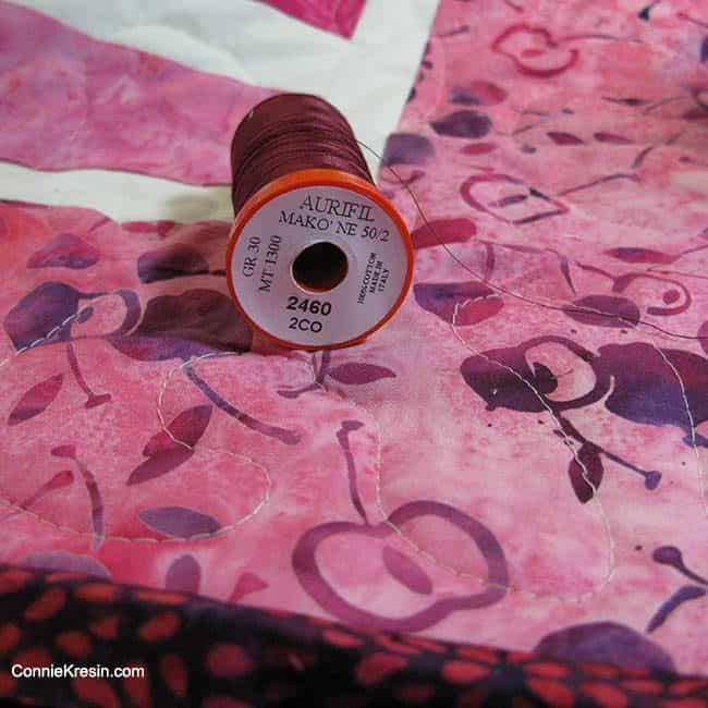 Batik Aurifil thread Cherry Berry