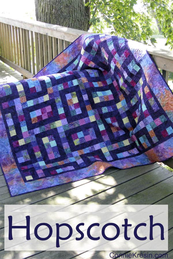 Hopscotch Quilt fast and easy to make