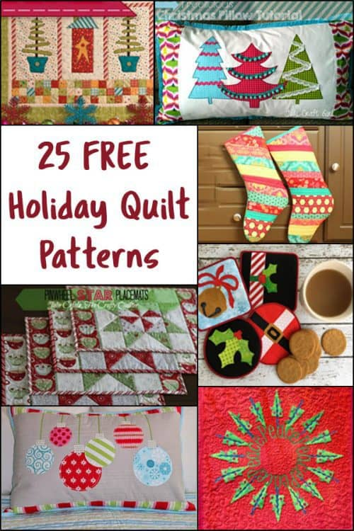 25 Free Christmas Quilt Patterns • Freemotion by the River : christmas quilting patterns free - Adamdwight.com
