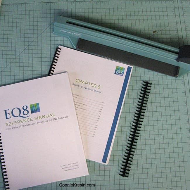ProClick Binder to bind EQ8 book