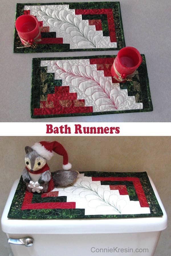Bathrunner in Christmas Batiks