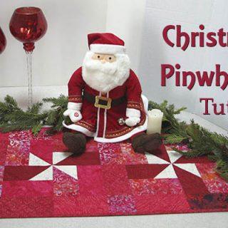 Christmas Pinwheels Table Runner Tutorial