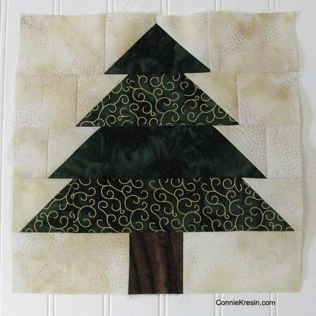 Christmas Trees Tablerunner Batiks