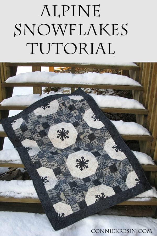 Alpine Snowflakes quilt tutorial